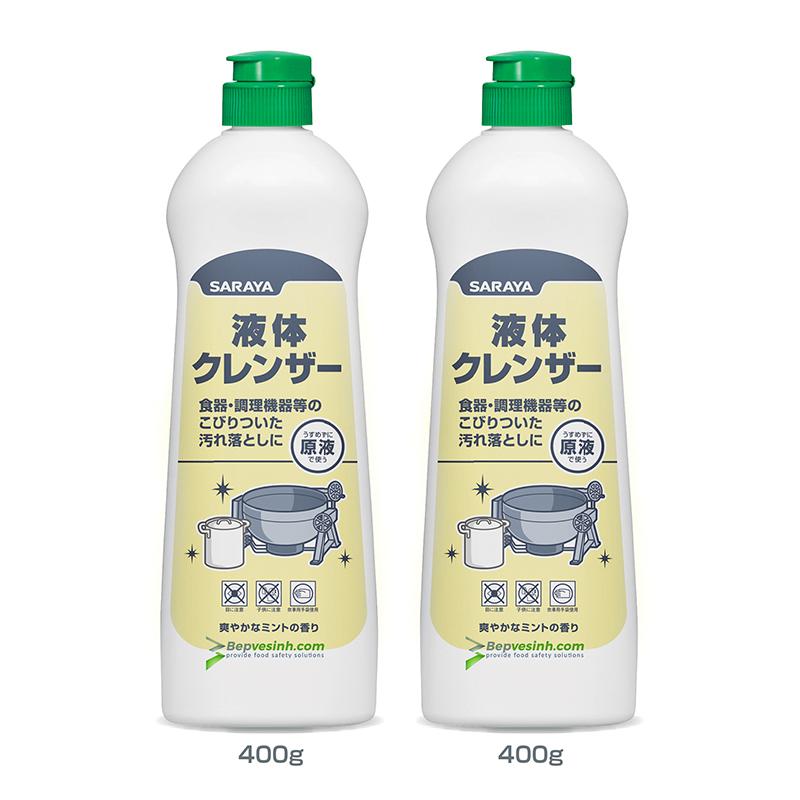Dung dịch tẩy rửa đa năng dạng kem Saraya Liquid Cleaser 400g